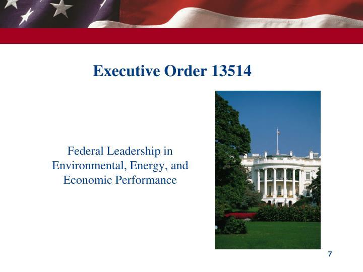 Executive Order 13514