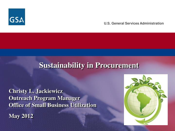 Sustainability in procurement