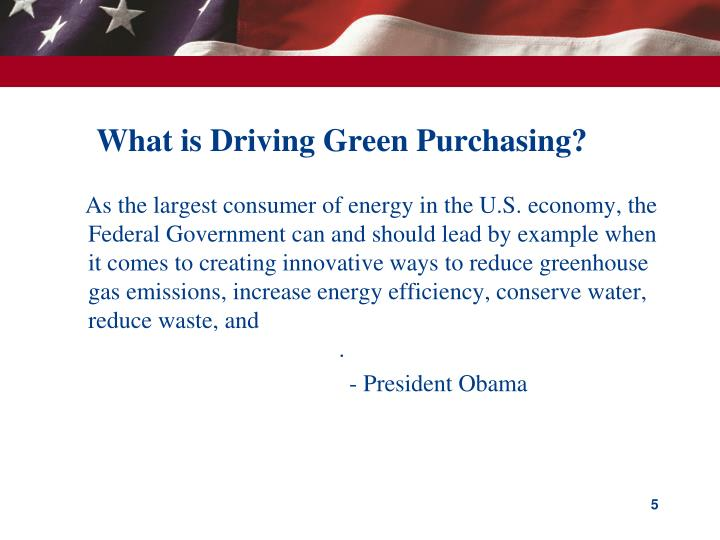 What is Driving Green Purchasing?
