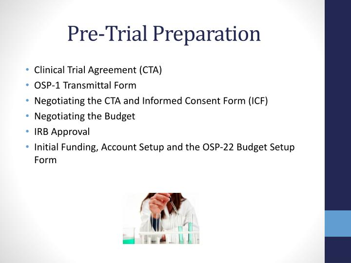 Pre-Trial Preparation