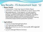 key results fs assessment sept 12