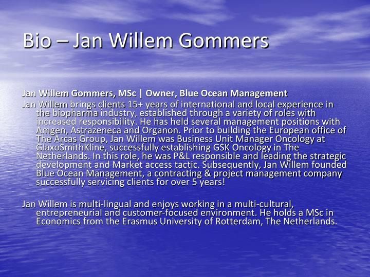 Bio – Jan Willem Gommers
