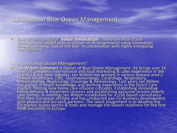 Introduction Blue Ocean Management