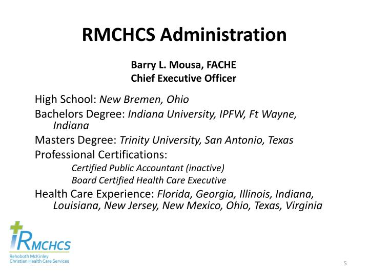 RMCHCS Administration