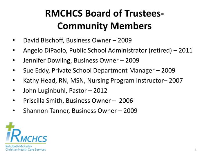 RMCHCS Board of Trustees-