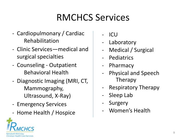 RMCHCS Services