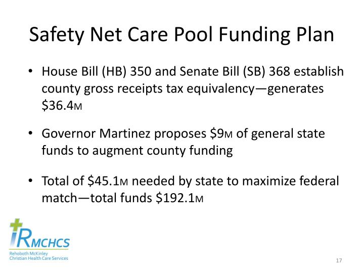 Safety Net Care Pool Funding Plan