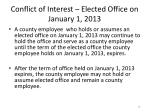 conflict of interest elected office on january 1 2013