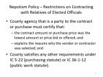 nepotism policy restrictions on contracting with relatives of elected officials2