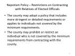 nepotism policy restrictions on contracting with relatives of elected officials3