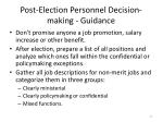 post election personnel decision making guidance1