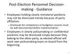 post election personnel decision making guidance2