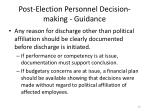 post election personnel decision making guidance4