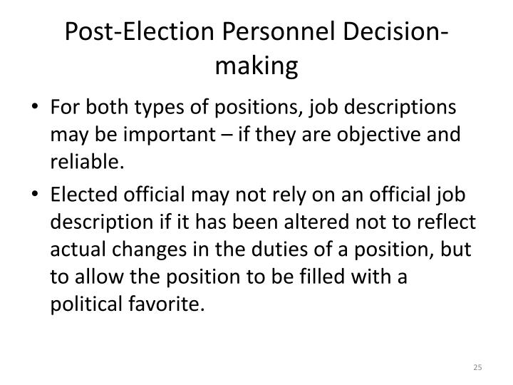 Post-Election Personnel