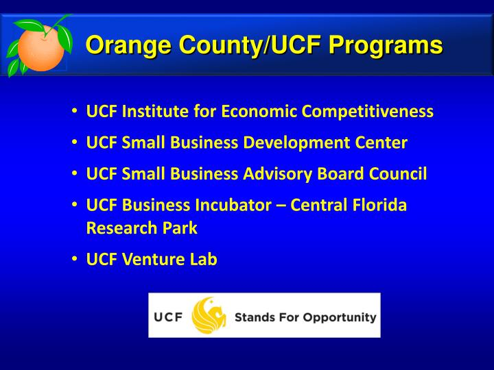 Orange County/UCF Programs