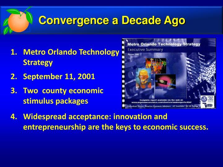 Convergence a Decade Ago