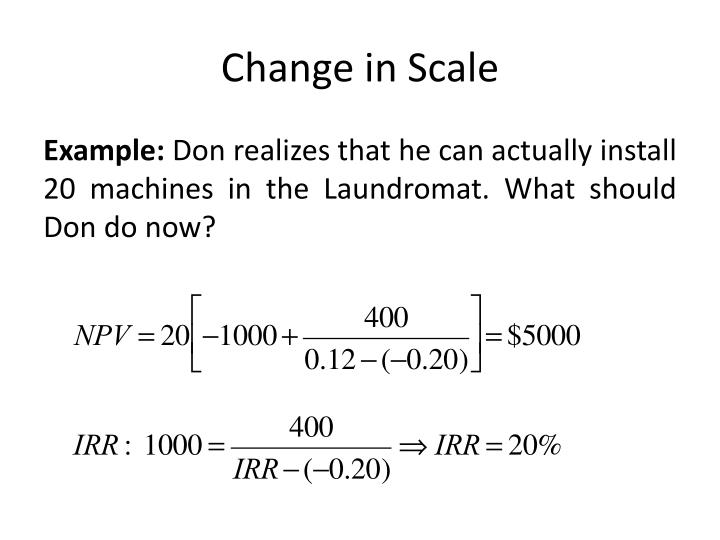 Change in Scale
