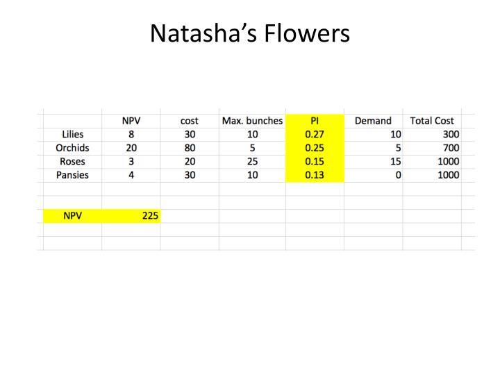 Natasha's Flowers