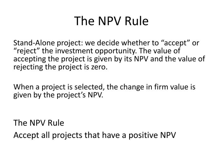 The NPV Rule