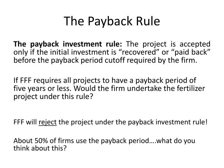 The Payback Rule
