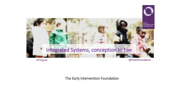 Integrated systems conception to five