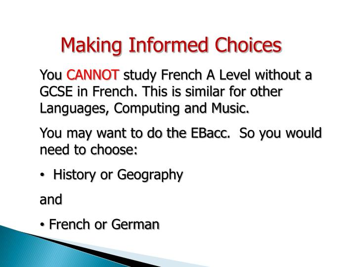 Making Informed Choices