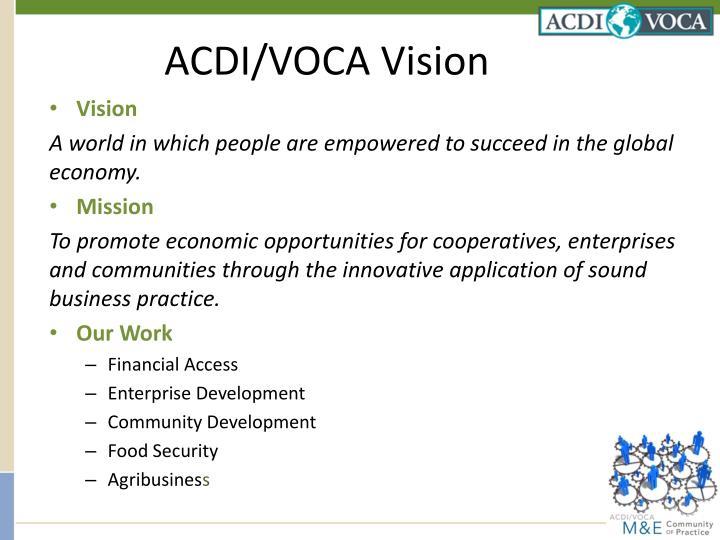 ACDI/VOCA Vision