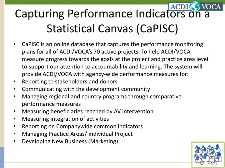 Capturing Performance Indicators on a Statistical Canvas (