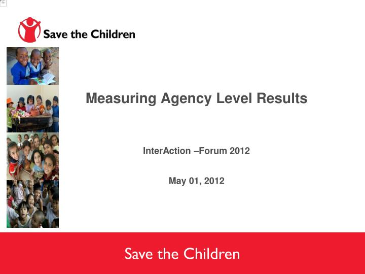 Measuring Agency Level Results