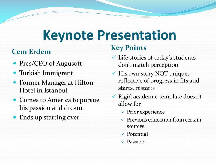 Keynote Presentation