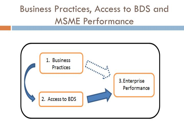 Business Practices, Access to BDS and MSME Performance