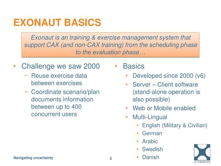 Exonaut basics