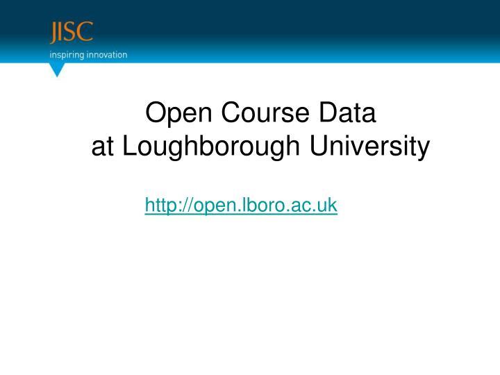 Open Course Data