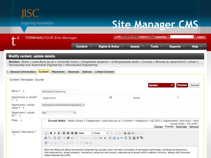 Site Manager CMS