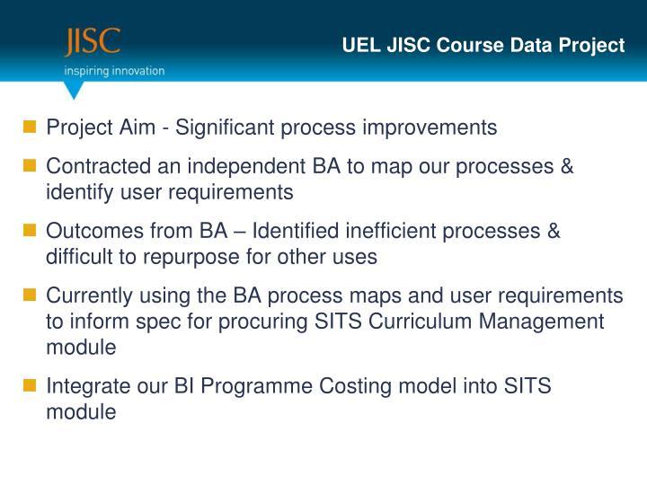 UEL JISC Course Data Project