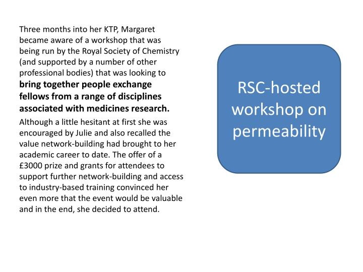 RSC-hosted workshop on permeability