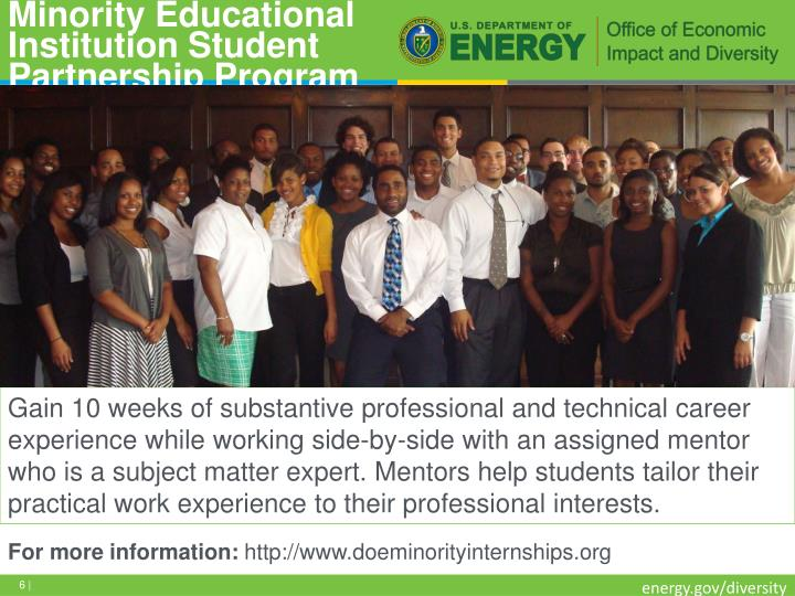 Minority Educational Institution Student Partnership Program