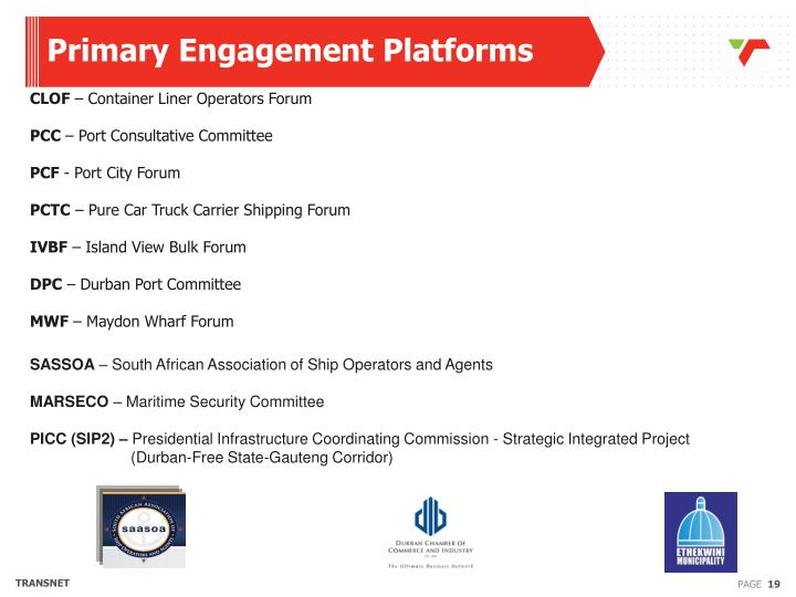 Primary Engagement Platforms