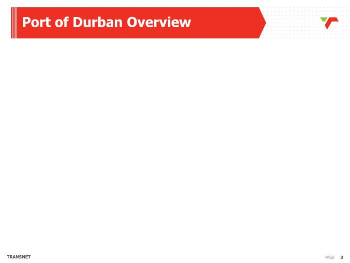 Port of Durban Overview