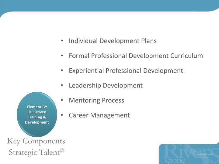 Individual Development Plans