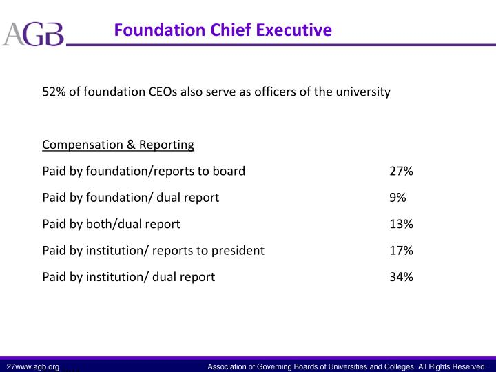 Foundation Chief Executive