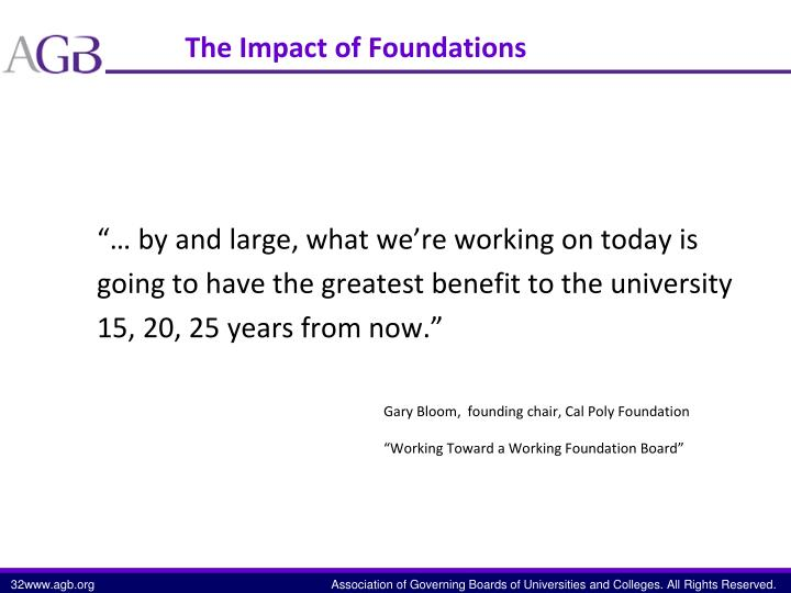 The Impact of Foundations