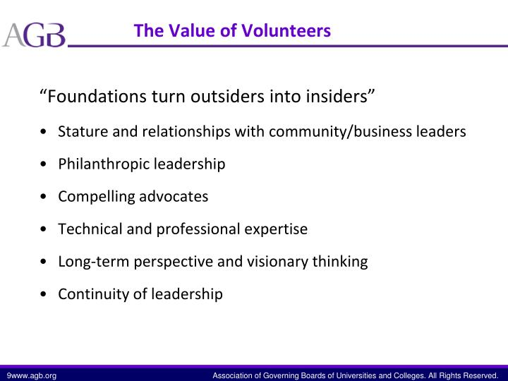 """Foundations turn outsiders into insiders"""
