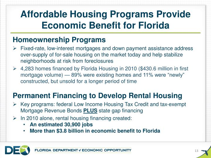 Affordable Housing Programs Provide