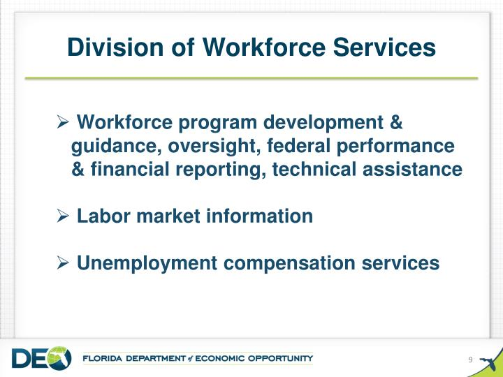 Division of Workforce