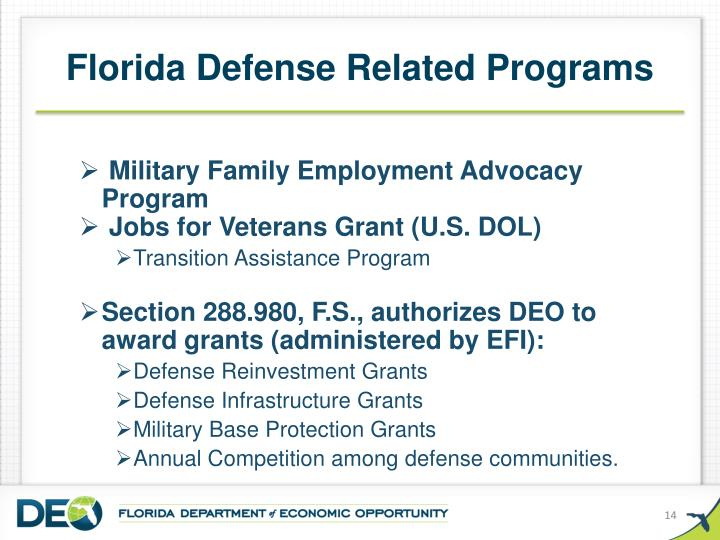 Florida Defense Related Programs