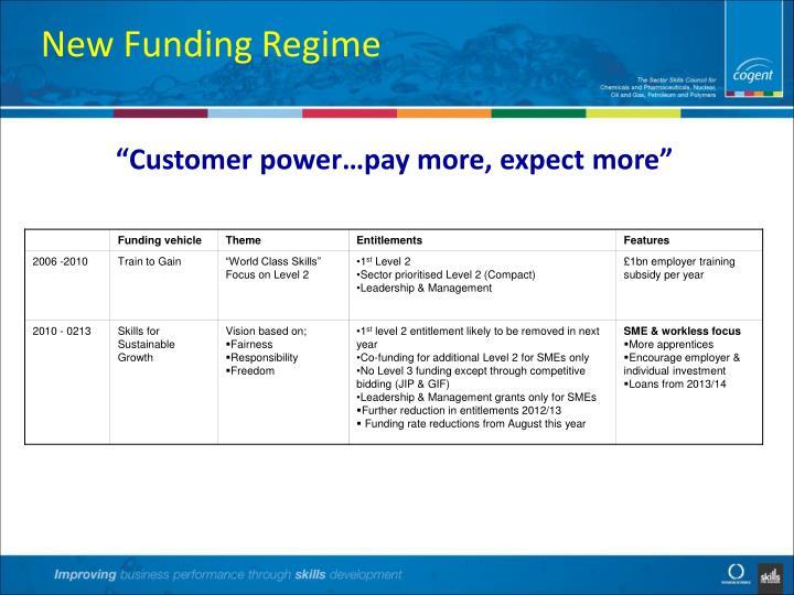 New Funding Regime