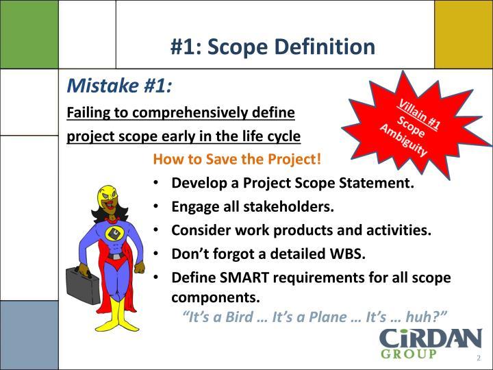 #1: Scope Definition