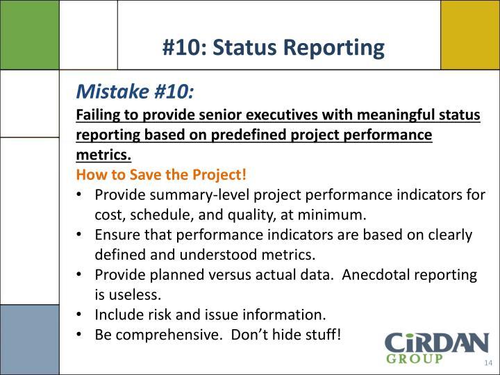 #10: Status