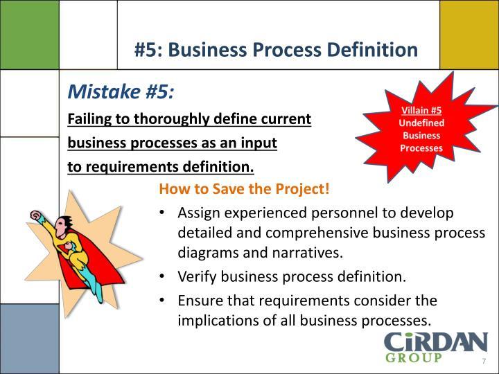 #5: Business Process Definition